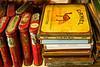Tobacco tins in a flea market - Kingston, AR